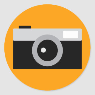 camera classic round sticker