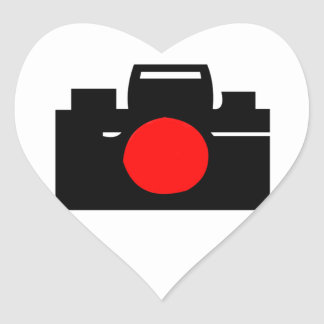 Camera Design Heart Sticker