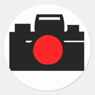 Camera Design Round Sticker