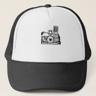 camera drawing Tracet Hill Trucker Hat