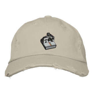 camera embroidered hat