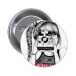 Camera Girl 6 Cm Round Badge