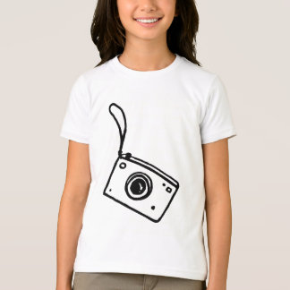 Camera - Girls Ringer Tee