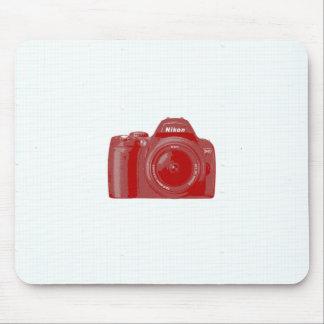 Camera & Grid Mouse Pad