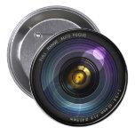 Camera Lens 7.5 Cm Round Badge