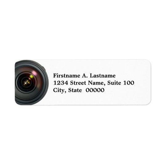 Camera Lens Address Labels