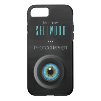 Camera Lens Blue Eye Diaphragm Photographer iPhone 7 Case