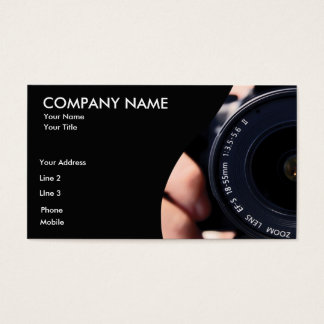 Camera lens Business Card