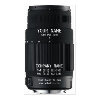 Camera Lens Pack Of Standard Business Cards