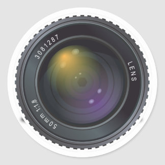 Camera Lens Classic Round Sticker