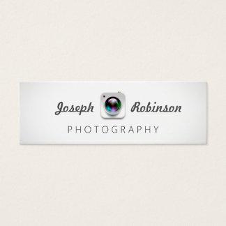 Camera Lens Logo Photography Photographer Mini Business Card