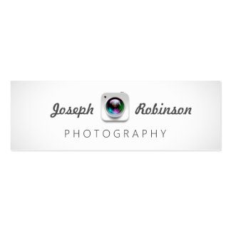 Camera Lens Logo Photography Photographer Pack Of Skinny Business Cards