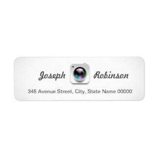 Camera Lens Logo Photography Photographer Return Address Label