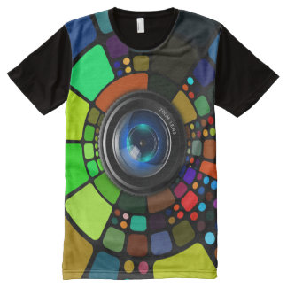 camera lens photographer All Over Printed tshirt All-Over Print T-Shirt