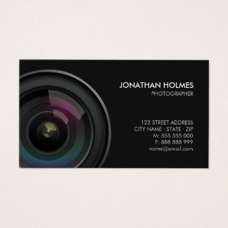 Camera Lens Photographer business card