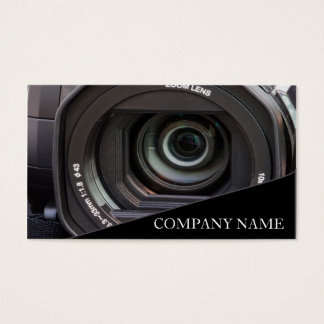 Camera Lens Photography Business Card