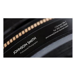 Camera Lens - Show your best image on the back Pack Of Standard Business Cards