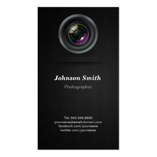 Camera Lens - Show Your Best Photo on the Back Business Card Template