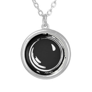 Camera Lens Silver Plated Necklace