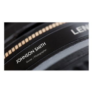 Camera Lens Store - Black and White Photographer Double-Sided Standard Business Cards (Pack Of 100)
