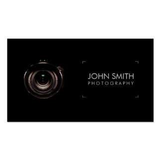 Camera Lens Viewfinder Black Photography Pack Of Standard Business Cards