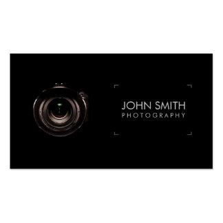 Camera Lens Viewfinder Black Photography Pack Of Standard Business Cards