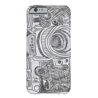 Camera Line Drawing Barely There iPhone 6 Case