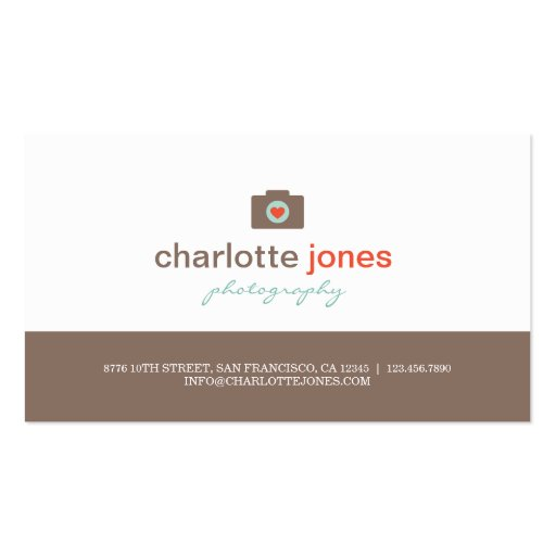 Camera Love Photography Business Cards Business Card