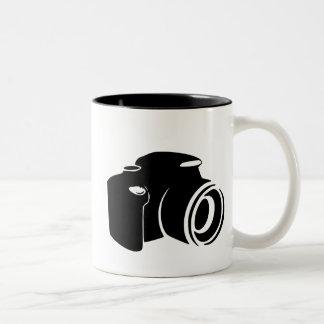 Camera love photography fan icon graphic modern Two-Tone coffee mug