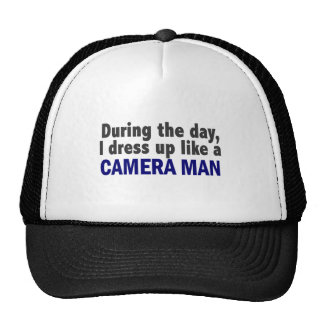 Camera Man During The Day Hats