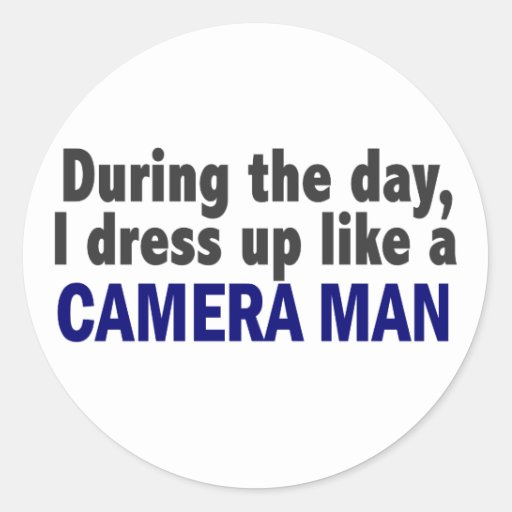 Camera Man During The Day Stickers