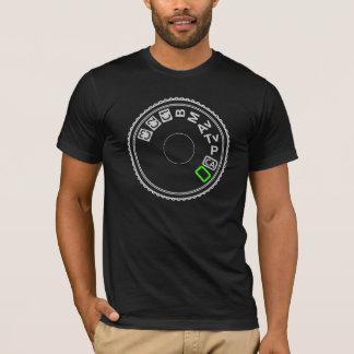 Camera Mode Dial Silver Green T-Shirt