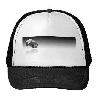 Camera on Black Gradient Cap