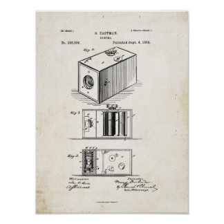 Camera Patent Print 1888