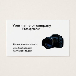 Camera Photographer Business Card