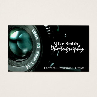 Camera Photographer double sided business cards
