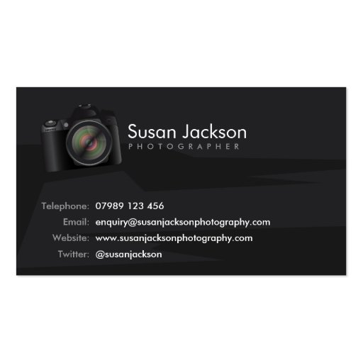 Camera Photographers Business Card