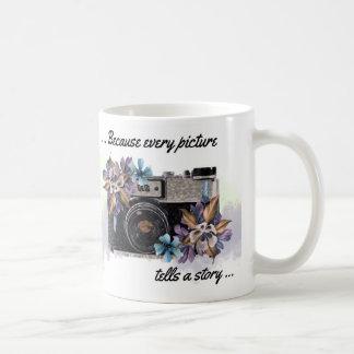 Camera Quote Mug, Every Picture Tells a Story Coffee Mug