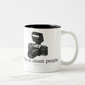 Camera Shoot Two-Tone Coffee Mug