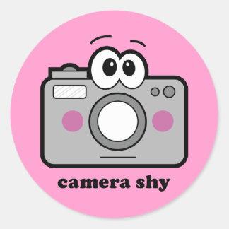 Camera Shy Classic Round Sticker