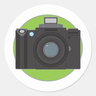 Camera Round Sticker