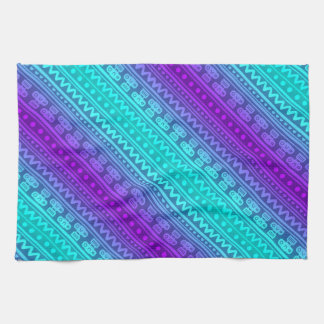 Camera Stripes in Purple & Blue Tones Kitchen Towels