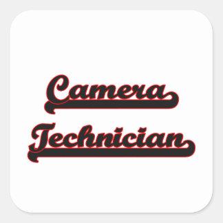 Camera Technician Classic Job Design Square Sticker