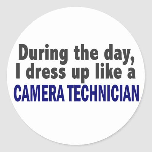 Camera Technician During The Day Stickers