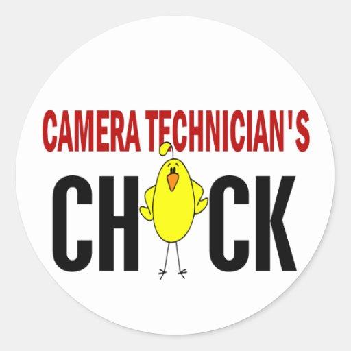 Camera Technician's Chick Stickers
