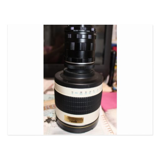 Camera Telescope Lens Post Card