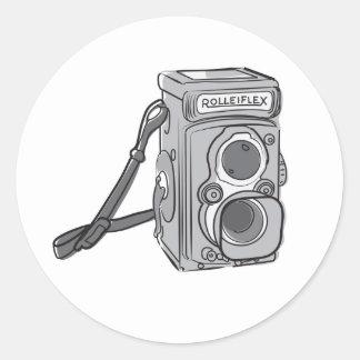 Camera time round sticker