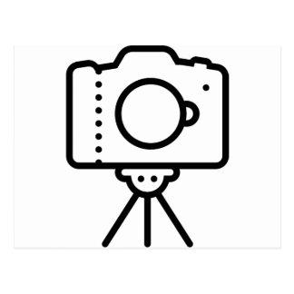 Camera Tripod Stand Postcard