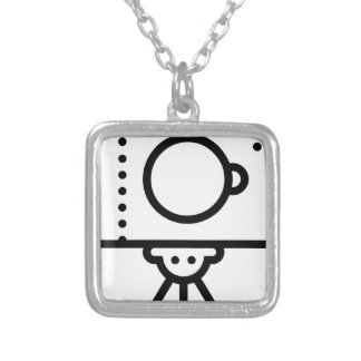Camera Tripod Stand Silver Plated Necklace