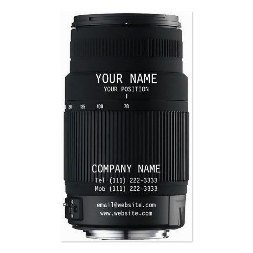Camera Zoom Lens Business Card